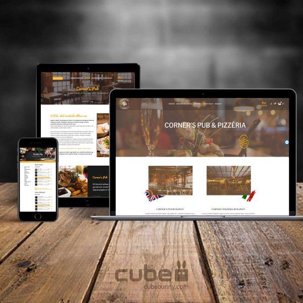 weboldal arculat logotervezés cornerspub